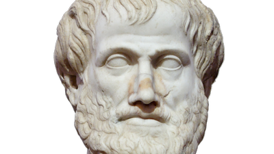 marble statue of aristotle showing his head and shoulders